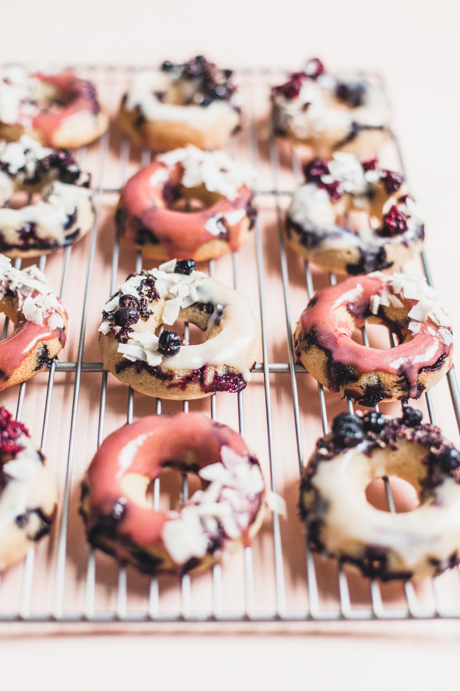 Gluten-Free Lemon Blueberry Donuts with a Coconut Glaze - Golubka Kitchen