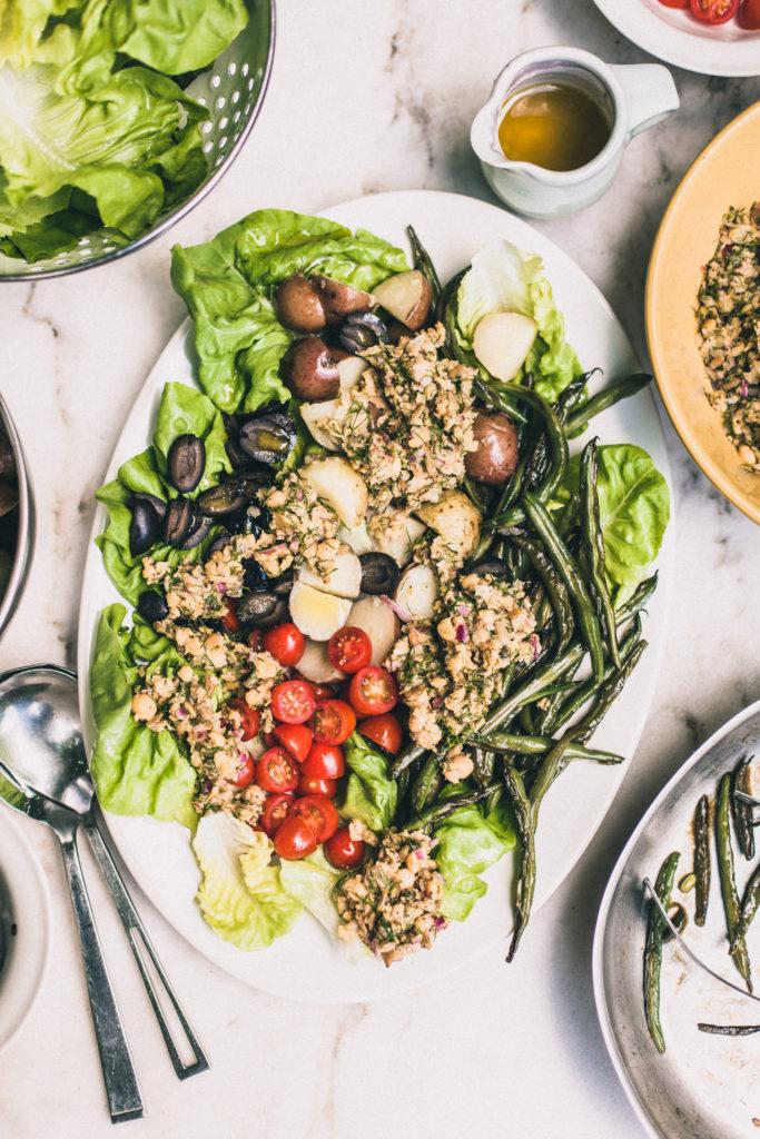 Vegan Chickpea Nicoise Salad