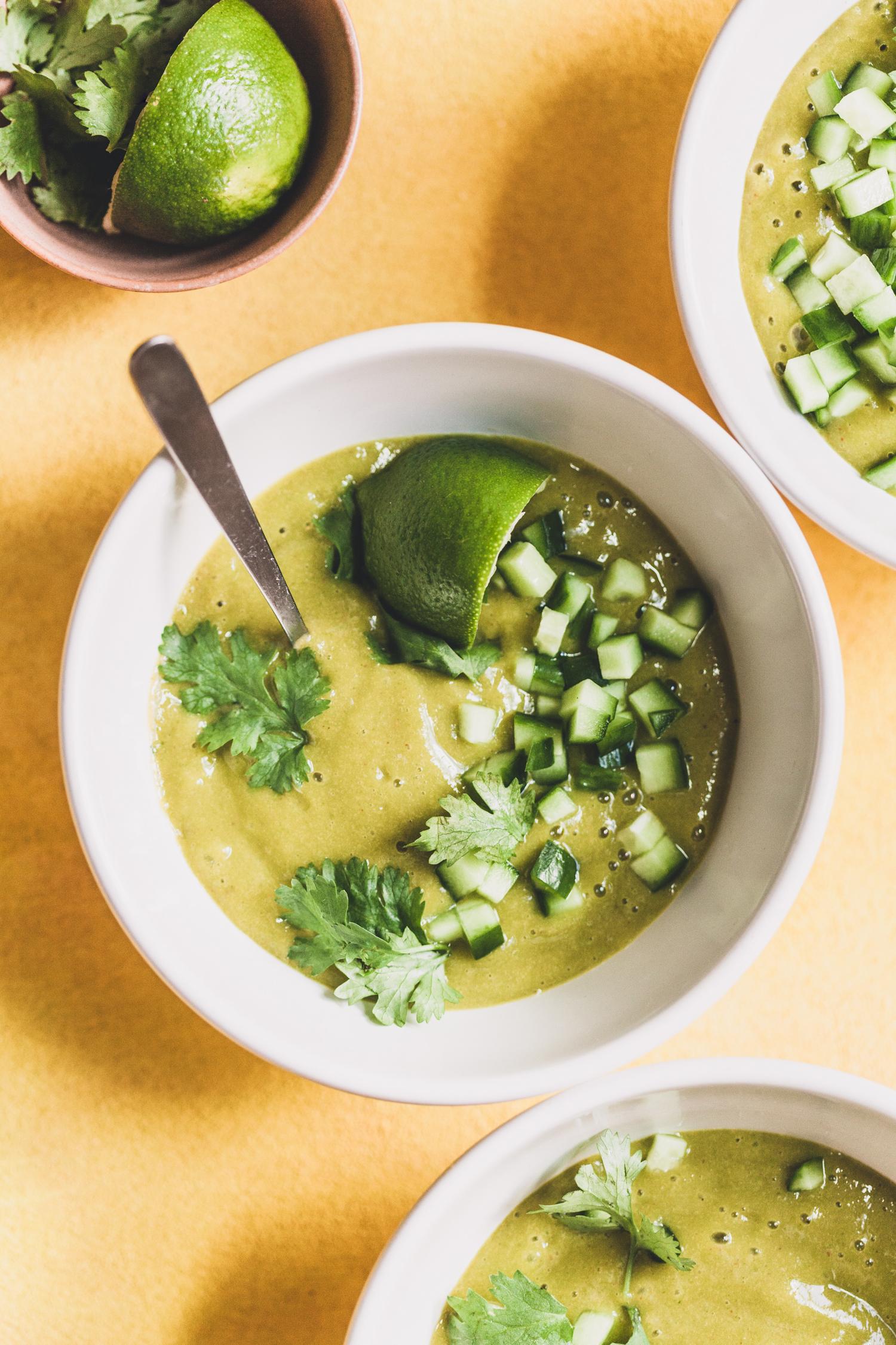 Simple Mango Gazpacho - Golubka Kitchen