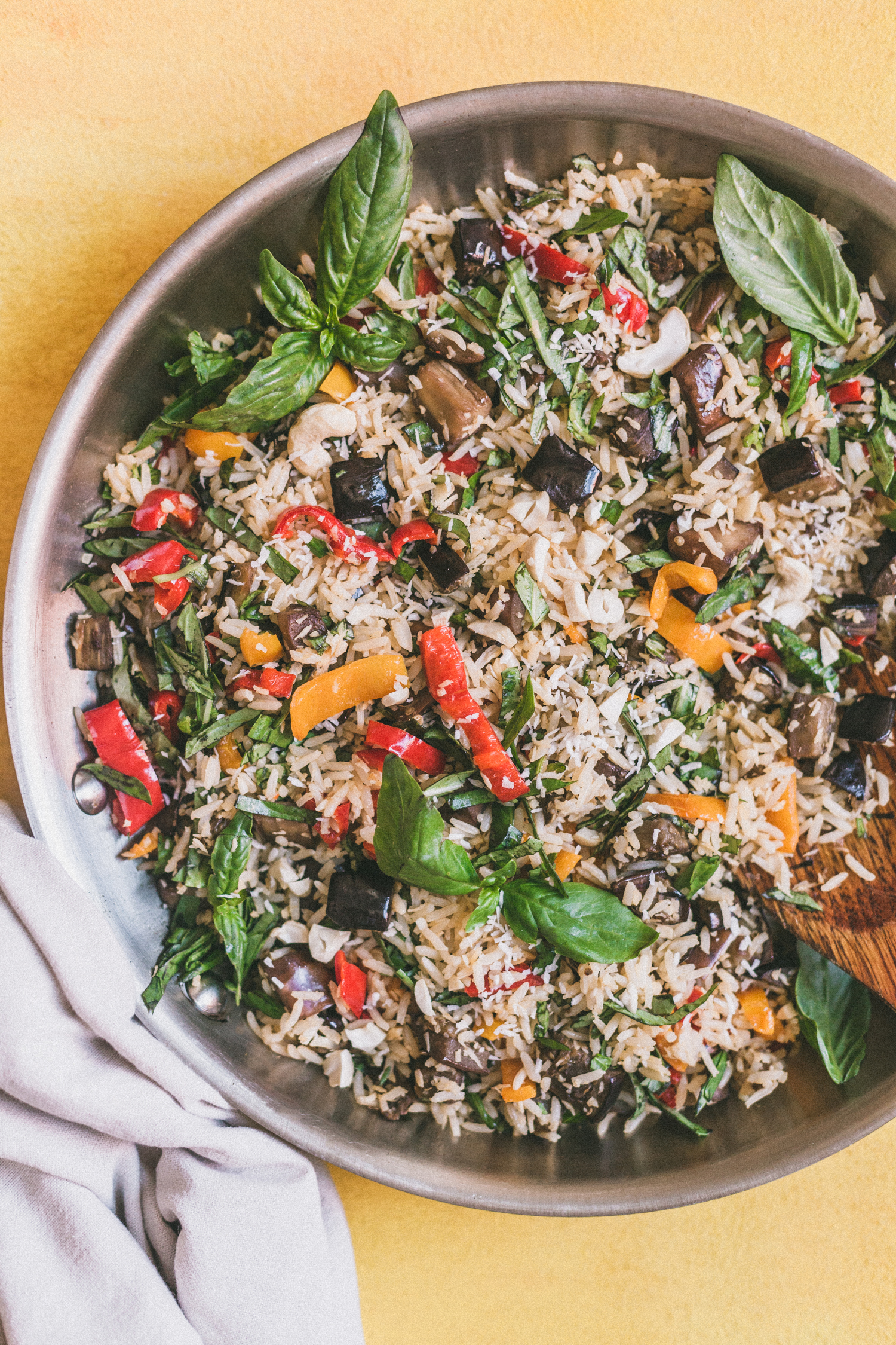 Coconut-Ginger Eggplant Fried Rice - Golubka Kitchen