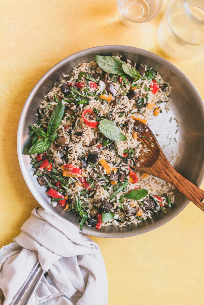 Coconut-Ginger Eggplant Fried Rice