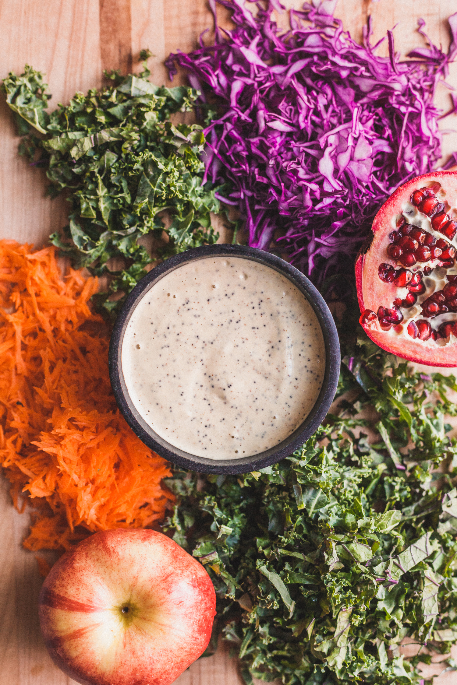 No-Recipe Winter Slaw with Dreamy Orange Tahini Dressing - Golubka Kitchen