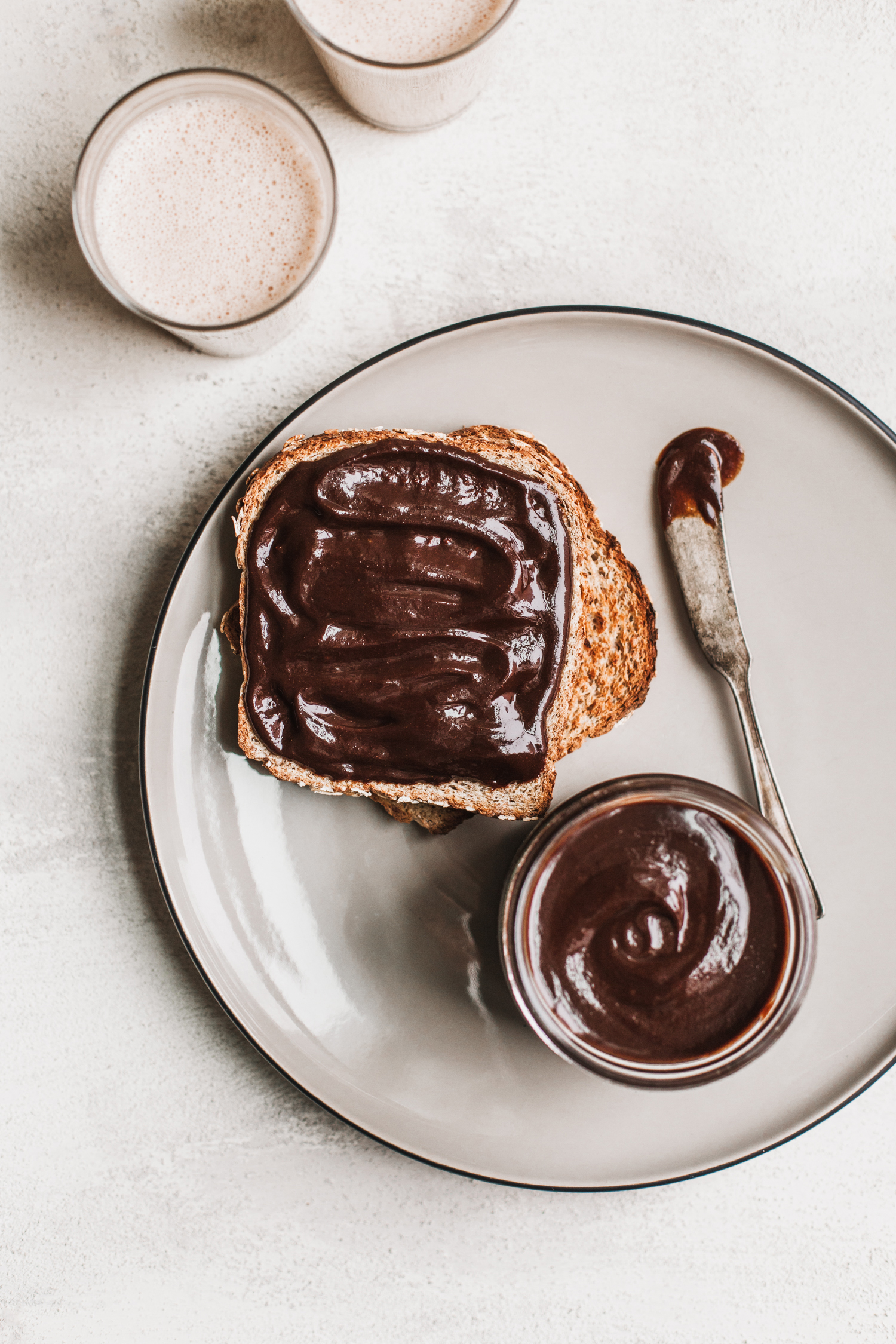 Super Decadent Vegan Chocolate Walnut Spread - Golubka Kitchen