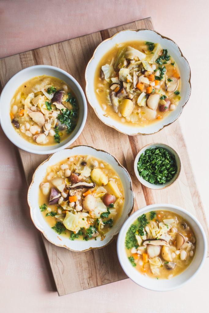 Golden Potato, Cabbage, and White Bean Stew – Abruzzo Inspired