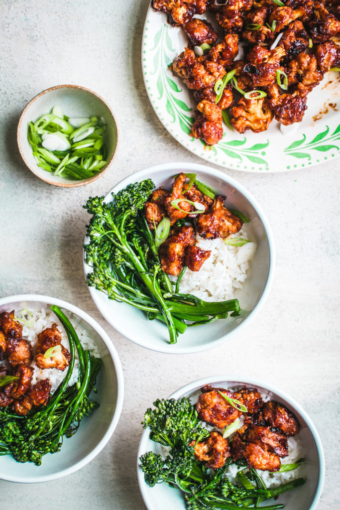 General Tso's Cauliflower from Healthier Together