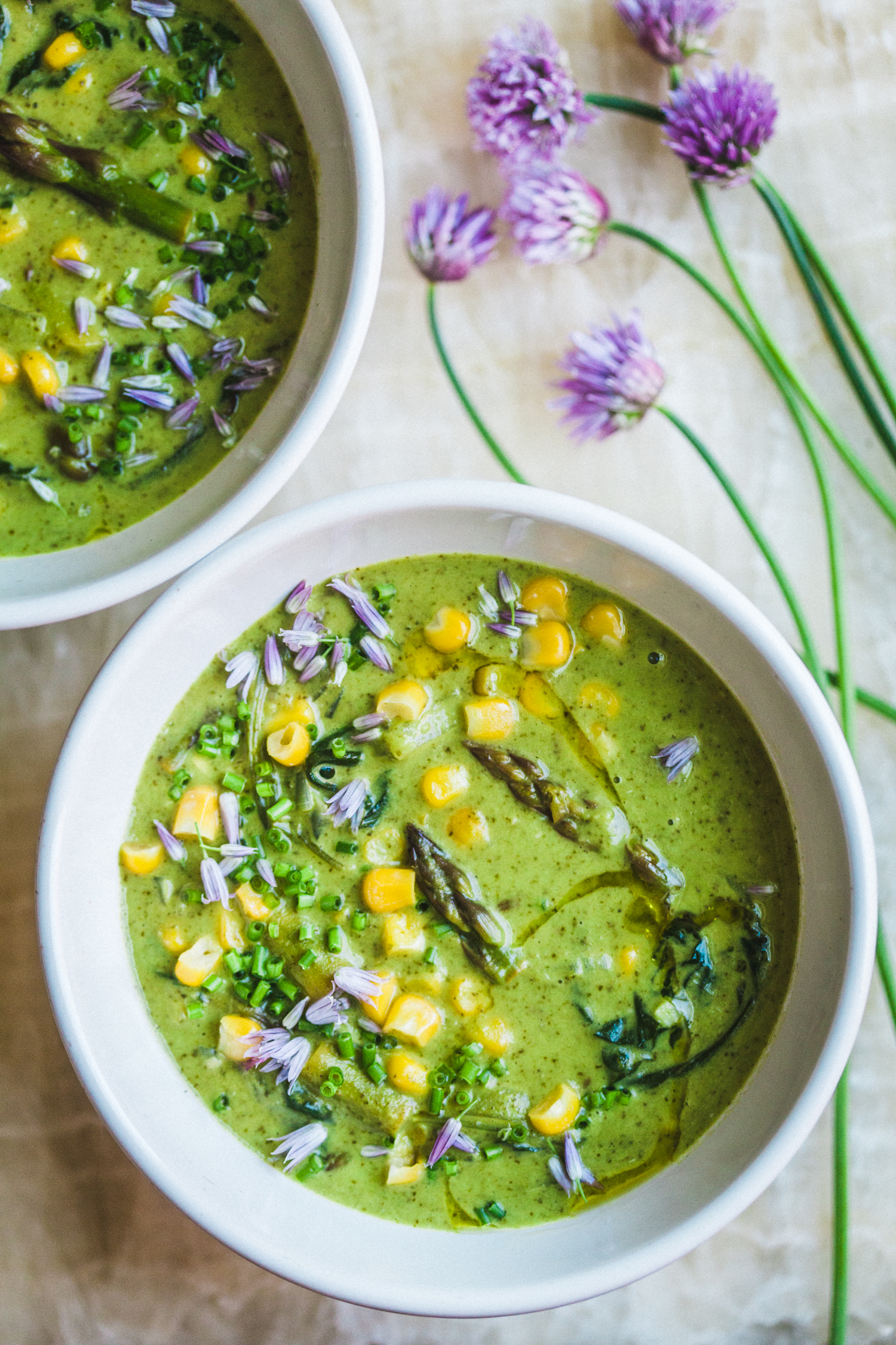 Asparagus Corn Chowder - Golubka Kitchen