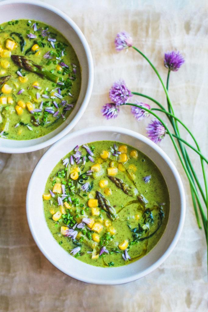 Asparagus Corn Chowder
