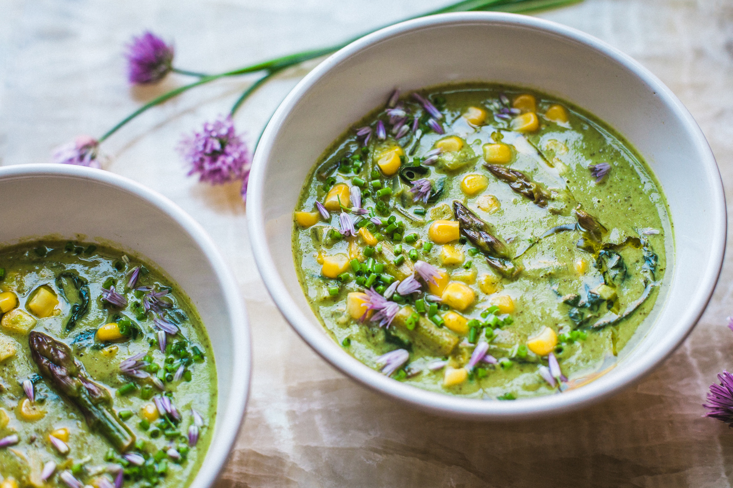 Asparagus Corn Chowder - Golubka Kitchen