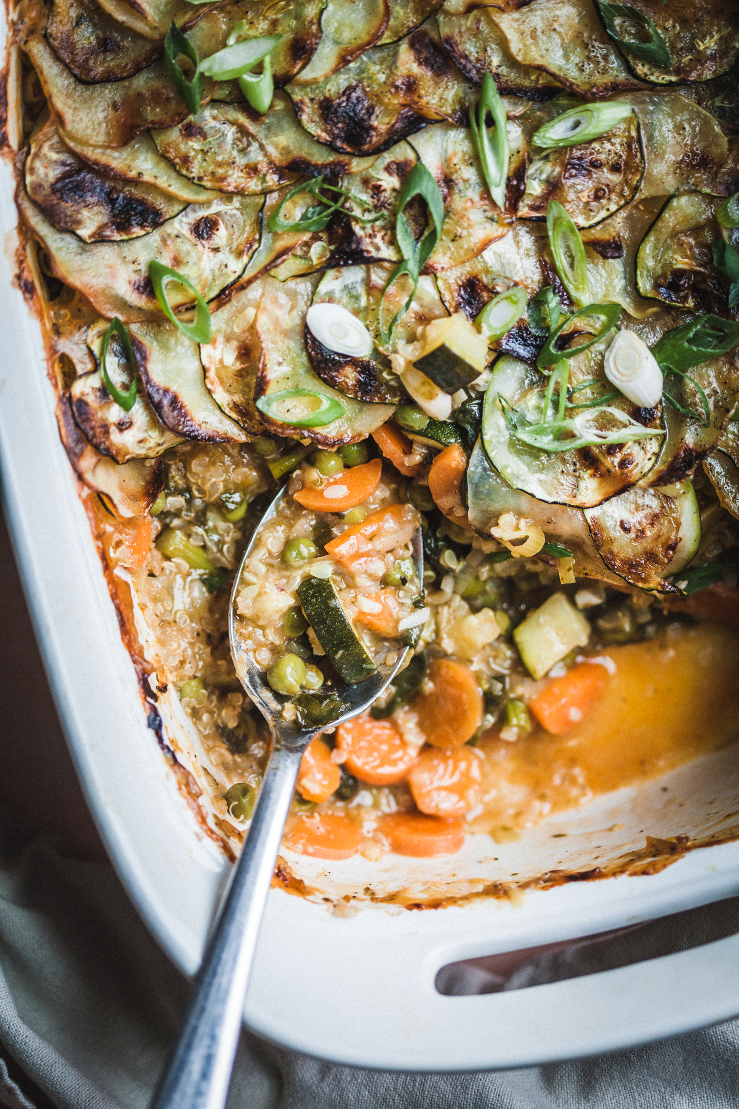 Spring Vegetable and Quinoa Pot Pie - Golubka Kitchen