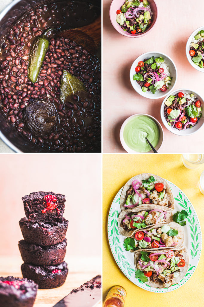 Meal Plan Mini: Creamy Black Bean Bowls, Cauliflower Tacos, Raspberry Brownies