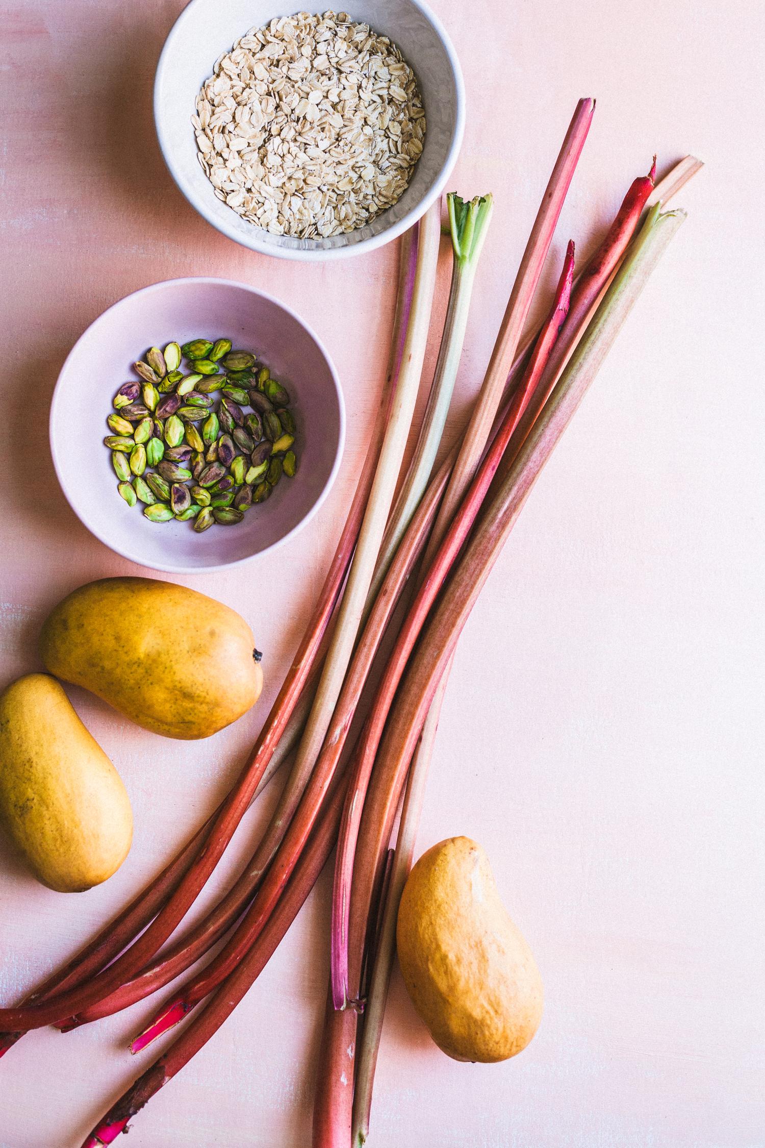 Easy Rhubarb Mango Crisp - Golubka Kitchen