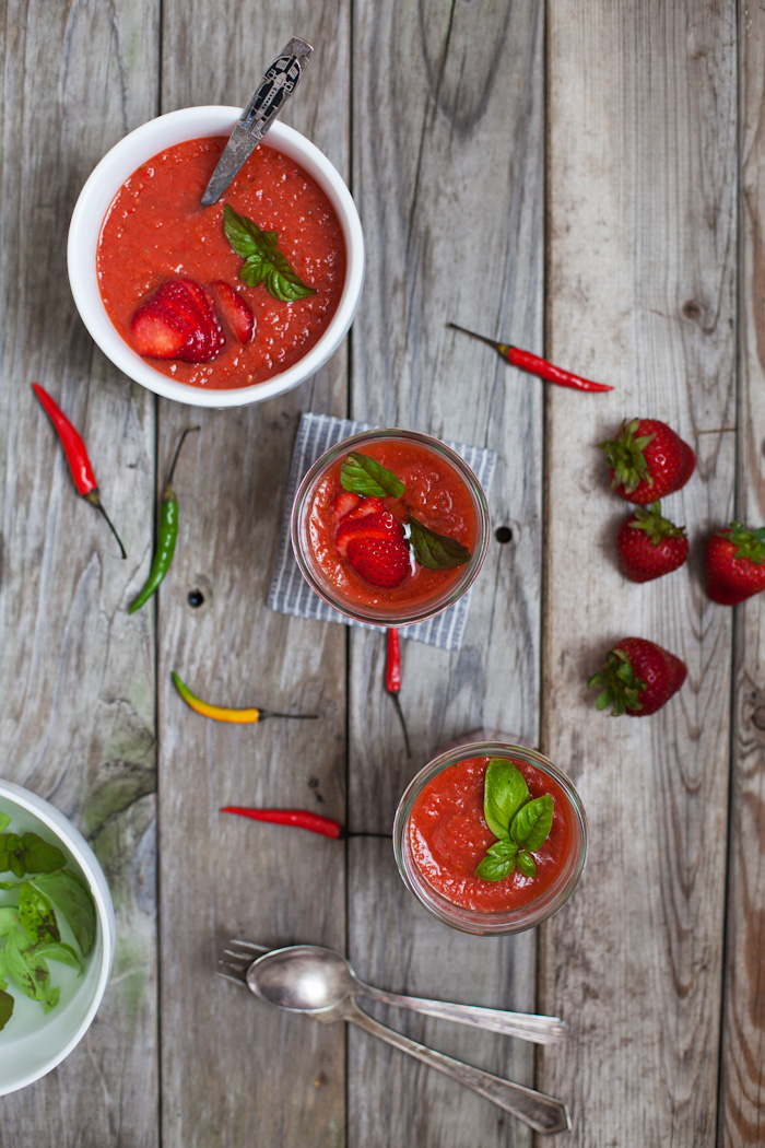 Simple Spicy Strawberry Gazpacho - Golubka Kitchen