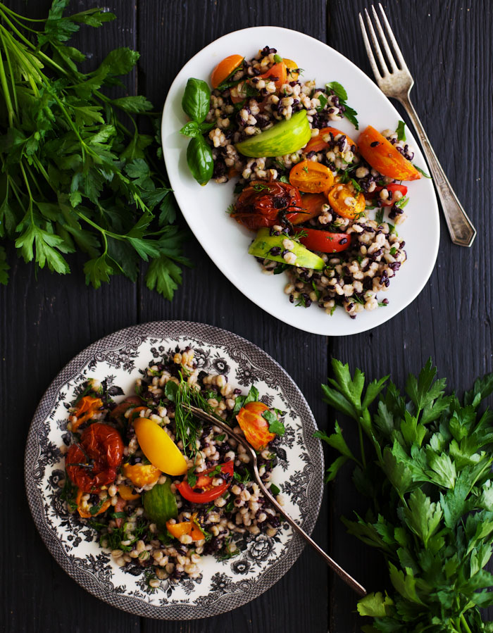 Barley Tomato Salad - Golubka Kitchen