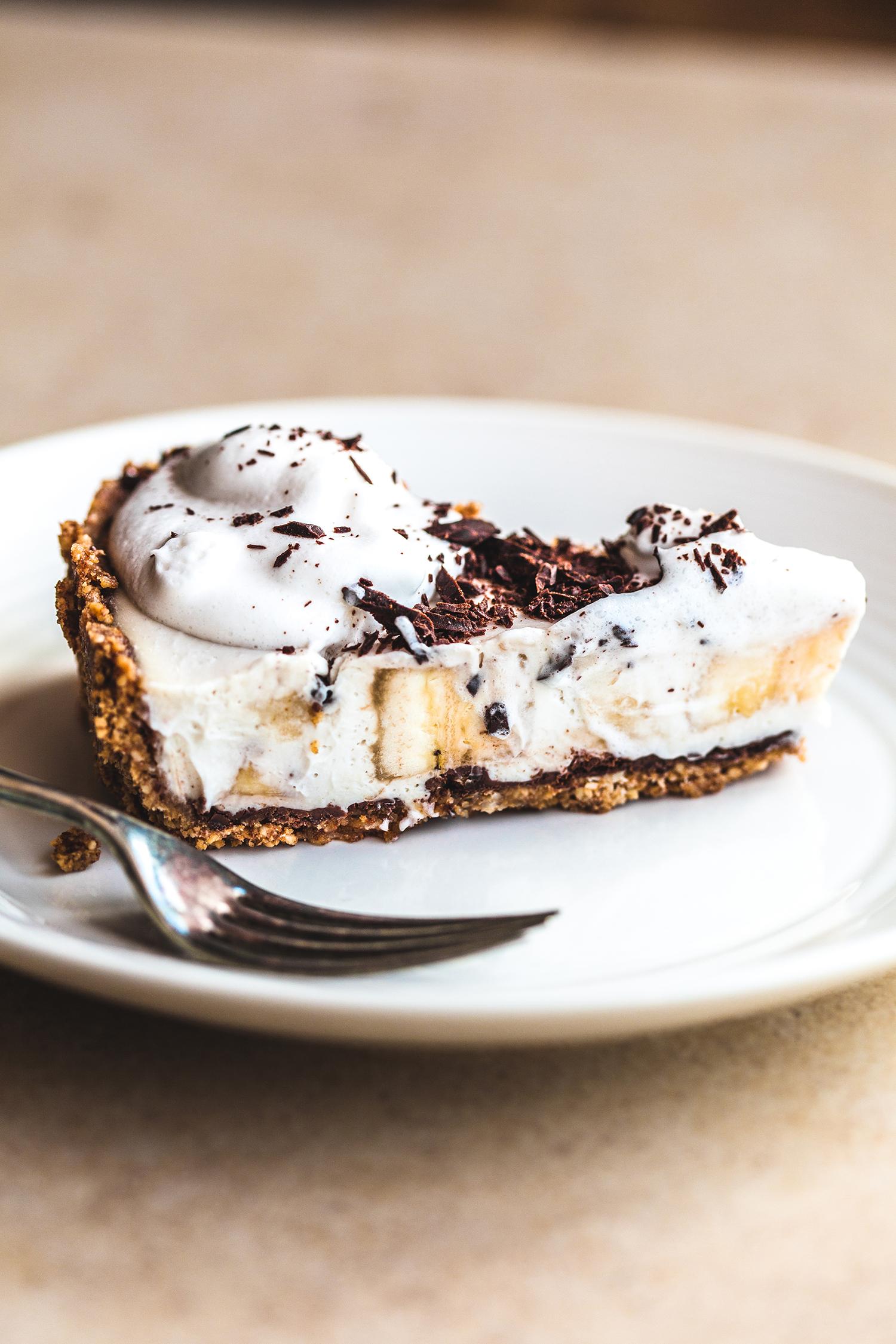 Banana Cream Pie, Vegan & GF - Golubka Kitchen