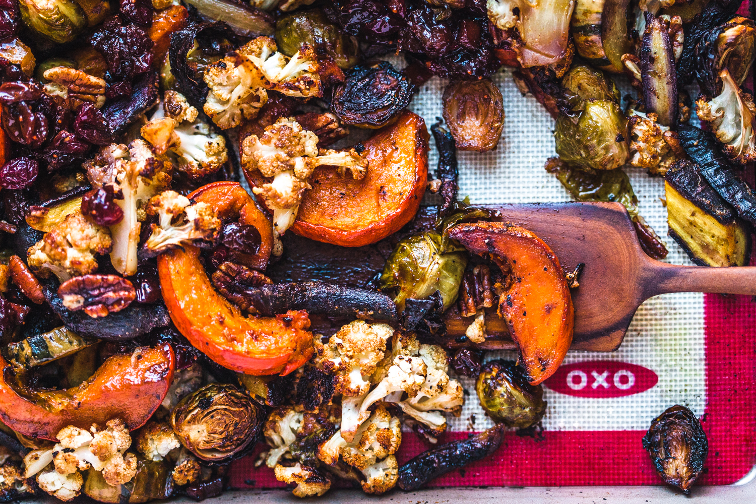 Holiday Veggie Roast with Oven Cranberry Sauce - Golubka Kitchen