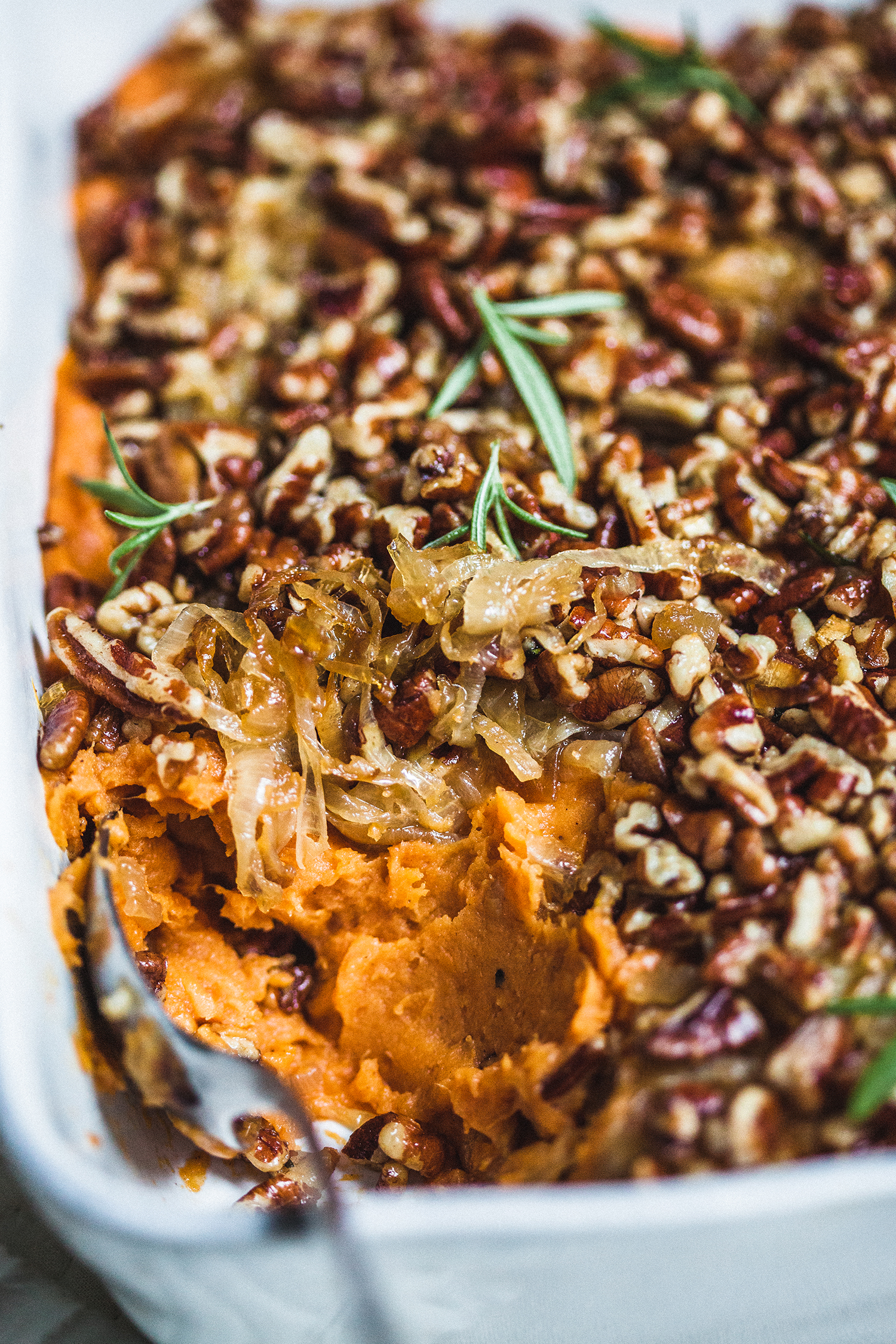 Sweet Potato and Caramelized Onion Casserole - Golubka Kitchen