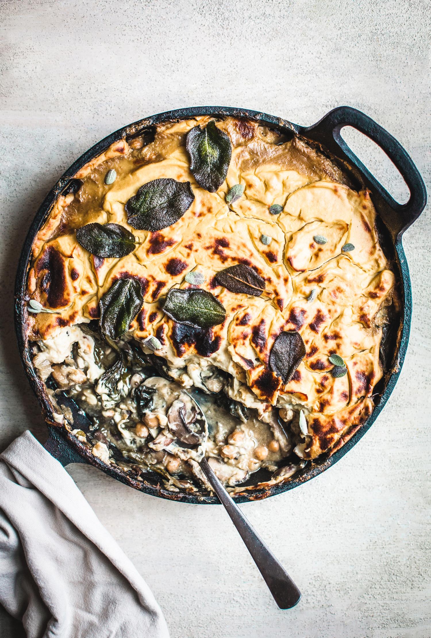 Amy Chaplin's Mushroom and Onion Cauliflower Bake - Golubka Kitchen