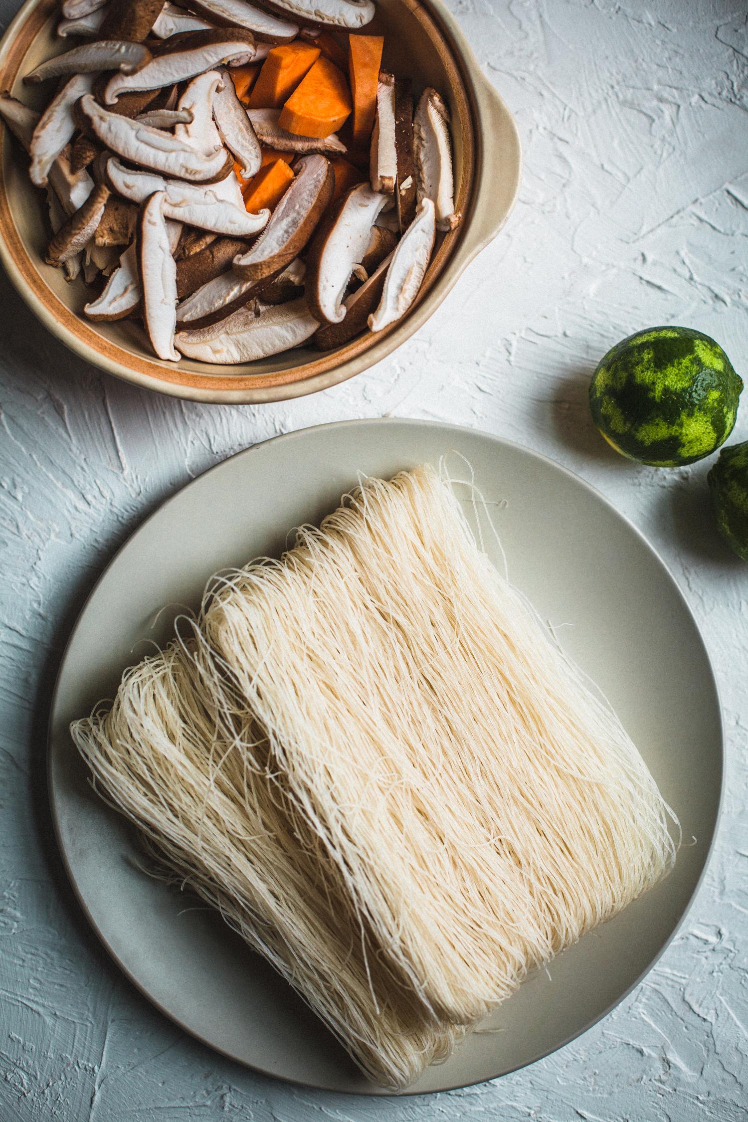 Coconut Noodle Soup, Vegan - Golubka Kitchen