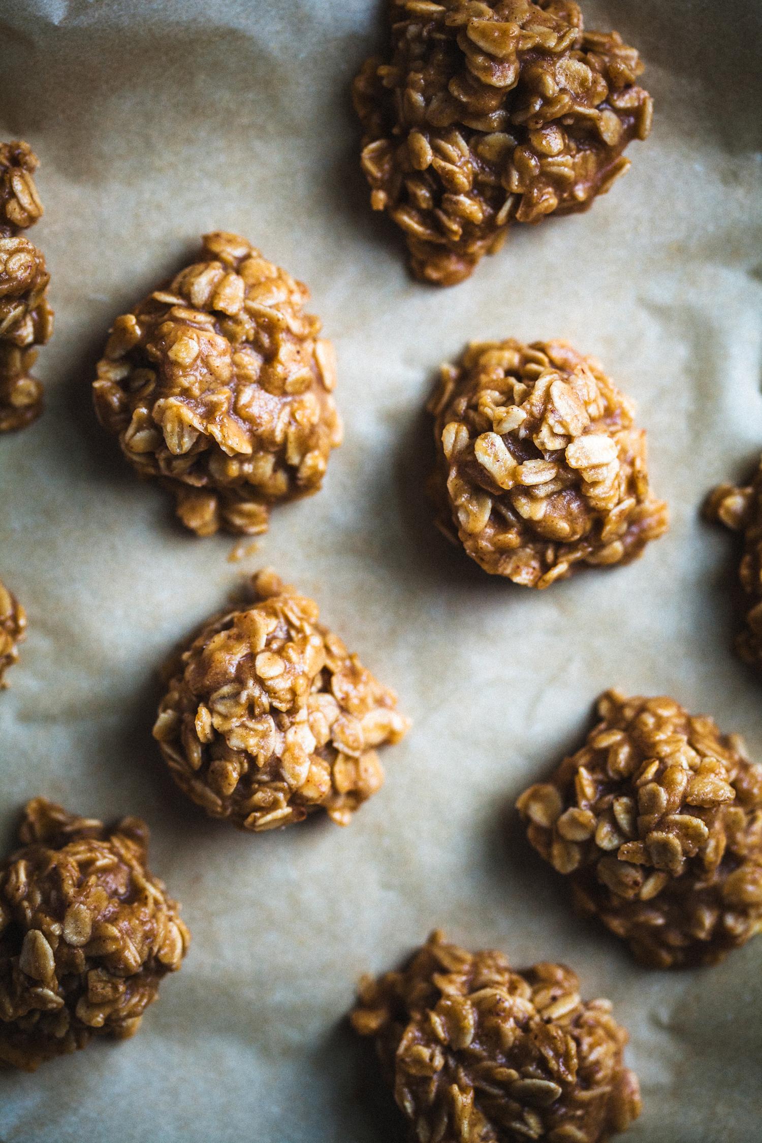 Sweet & Salty Nut Butter Oat Clusters - Golubka Kitchen