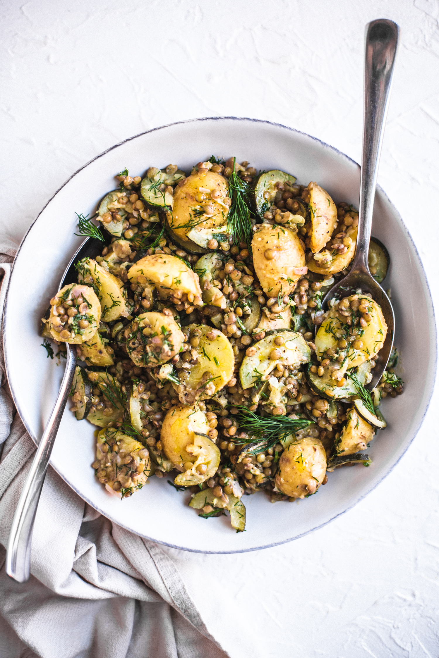 Potato, Lentil, and Zucchini Salad - Golubka Kitchen