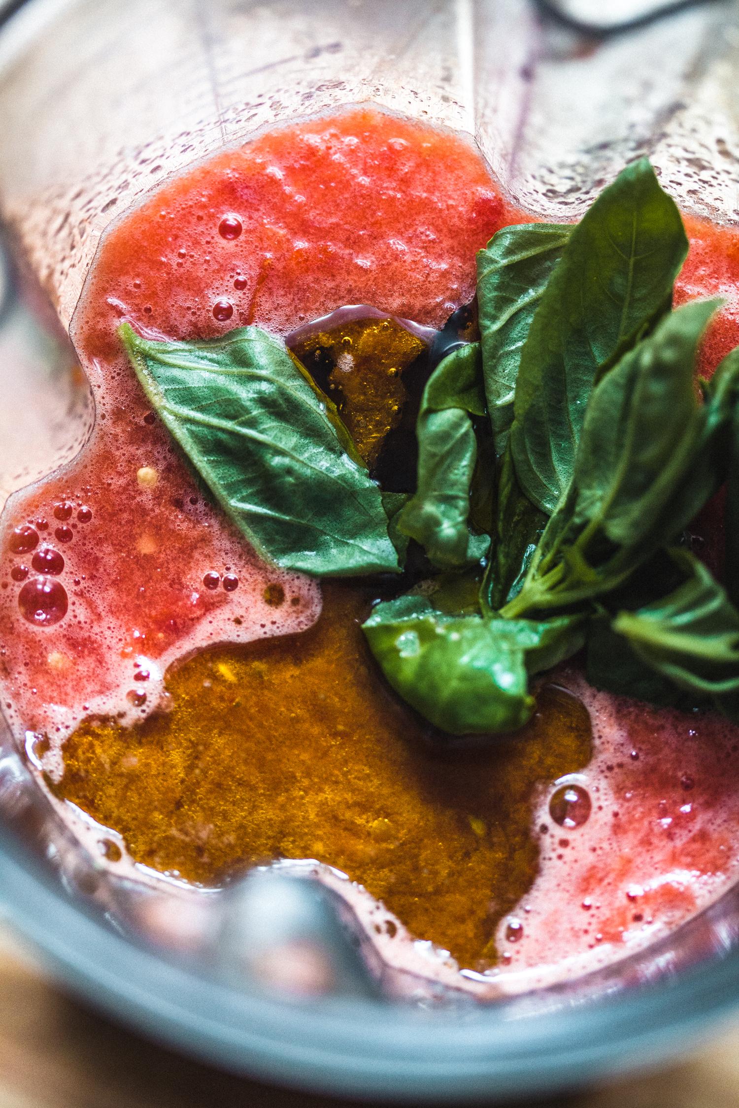 Gazpacho with Spicy Red Lentils - Golubka Kitchen