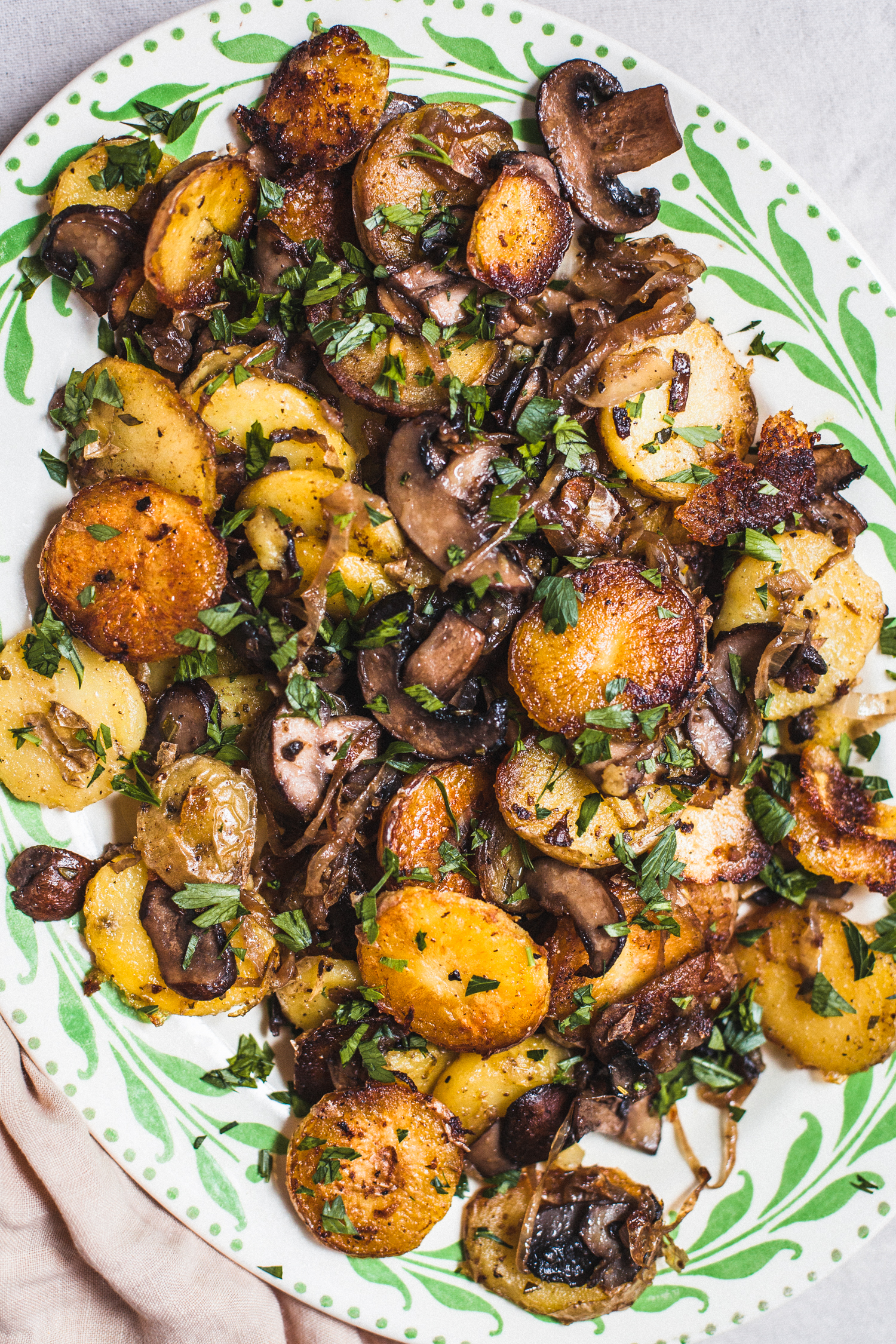 Fried Potatoes With Mushrooms And Onions Golubka Kitchen
