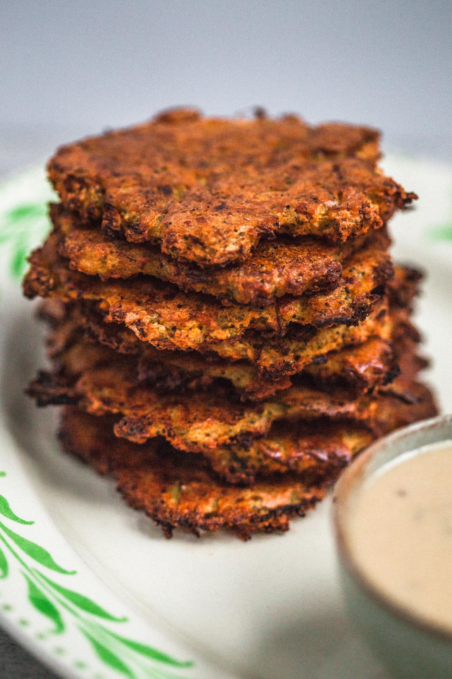 Baked Red Lentil & Vegetable Fritters with Maple Mustard Sauce - Golubka Kitchen