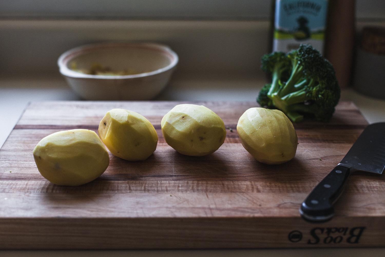 Potato, Dill, and Broccoli Cakes with Spicy Cashew Sauce - Golubka Kitchen